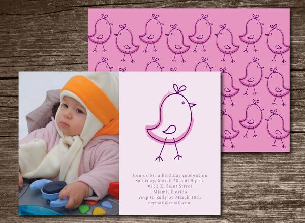Kids Birthday Invitation Illustration