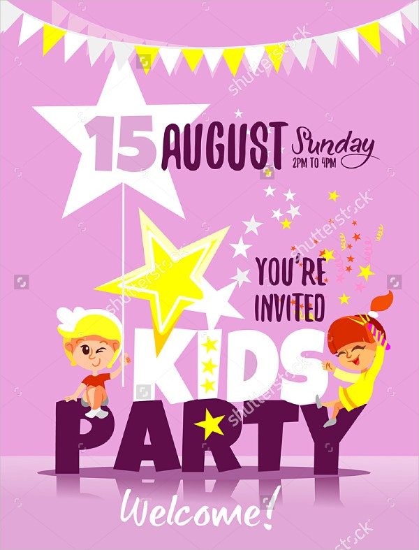 19 kids party invitation templates free psd ai vector eps kids party invitation design template stopboris Image collections