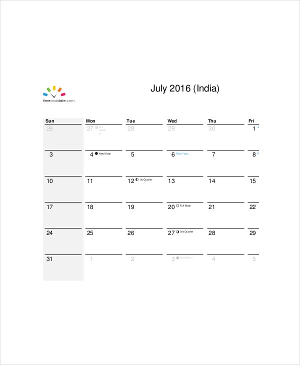 Office Vacation Calendar Template