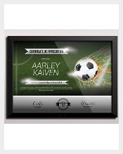 finishing the whole training for a football program is not an easy task as positive receptions to the players dedication football certificate template in