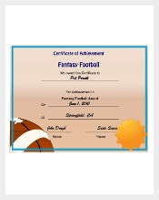 fantasy football certificates  Certificate Template - 826  Free Word, PDF, PSD, EPS Format ...