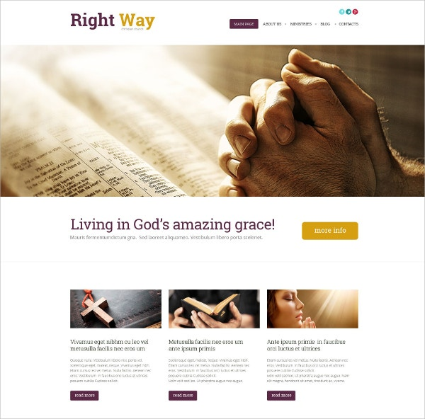 Religious,Church WordPress Theme $75