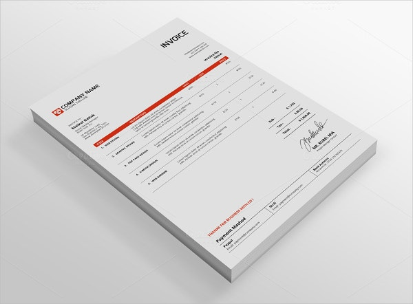 InDesign Invoice Template 7 Free Indesign Format Download – Indesign Invoice Template