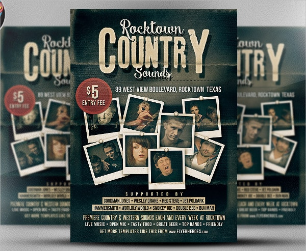 Country Music Poster Template