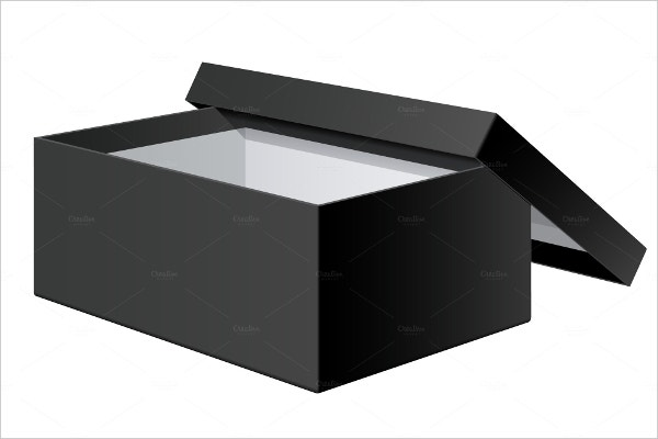 blank shoe box template