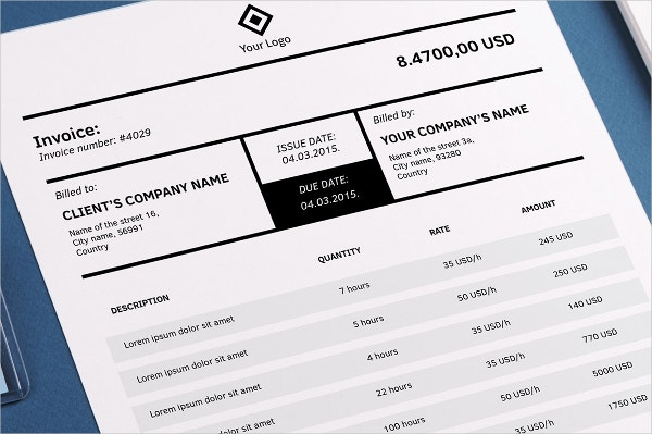 indesign invoice template  InDesign Invoice Template - 7  Free Indesign Format Download | Free ...