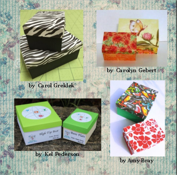 shoe gift box template