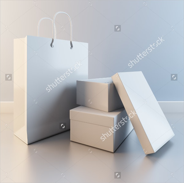 shoe box packaging template