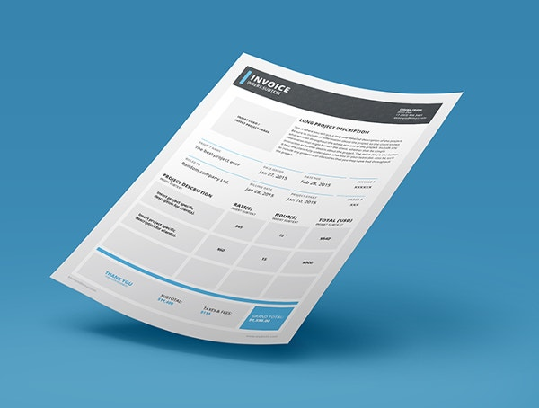Indesign Invoice Template   Free Indesign Format Download  Free