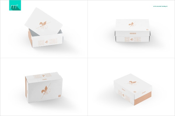 Editable Shoe Box Template