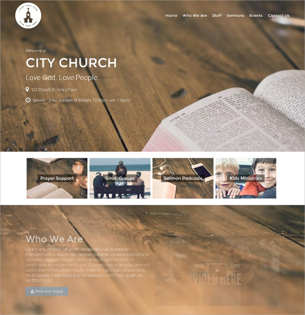Animation Church WordPress Theme $79
