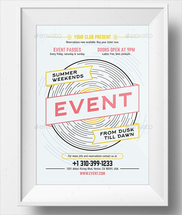 Event poster templates free