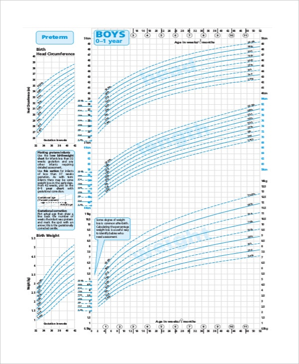 Newborn Baby Growth Chart Template