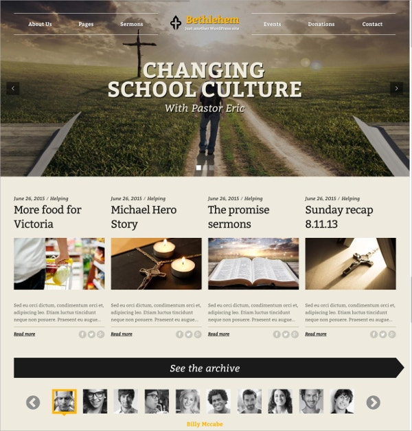 Church Compaign WordPress Theme $59