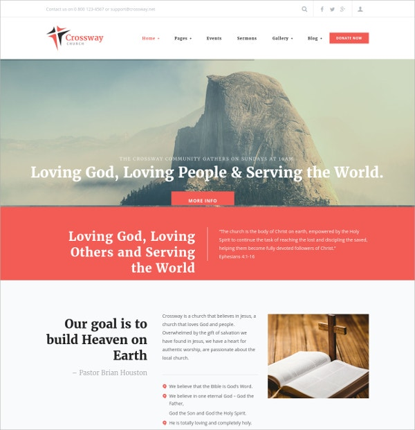 Church & Religion WordPress Theme $53