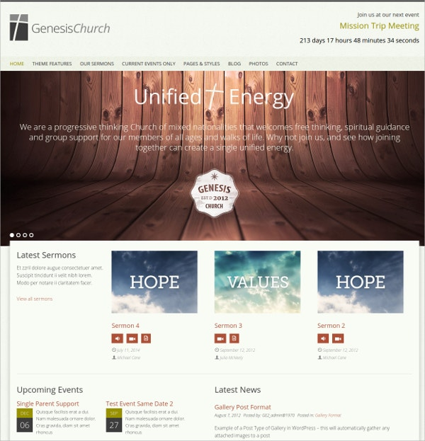 Religious Organization Church WordPress Theme