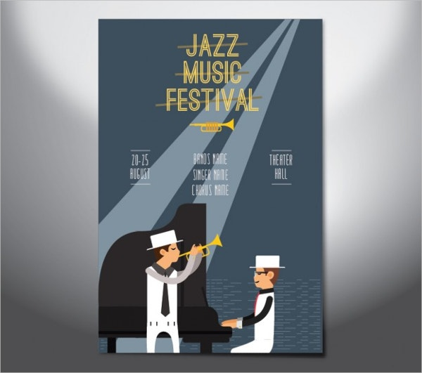 Flat Style Music Poster
