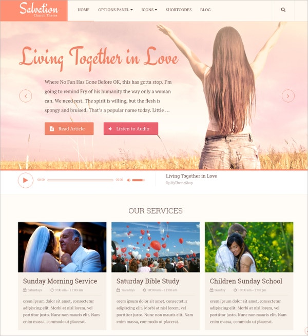perfect theme for church community website 59