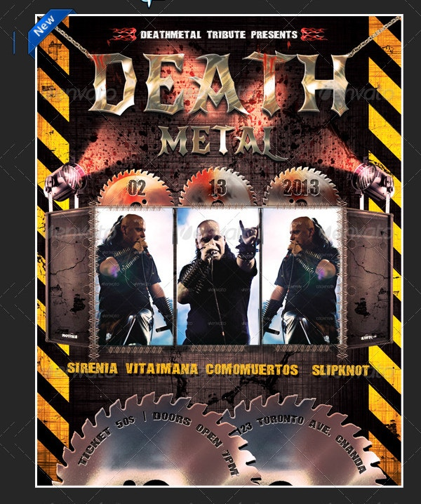 Death Metal Music Poster Template