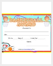 Certificate template 826 free word pdf psd eps format sports club that offers basketball training for interested players can use basketball certificate template for athletes that completed a basketball course yadclub Images