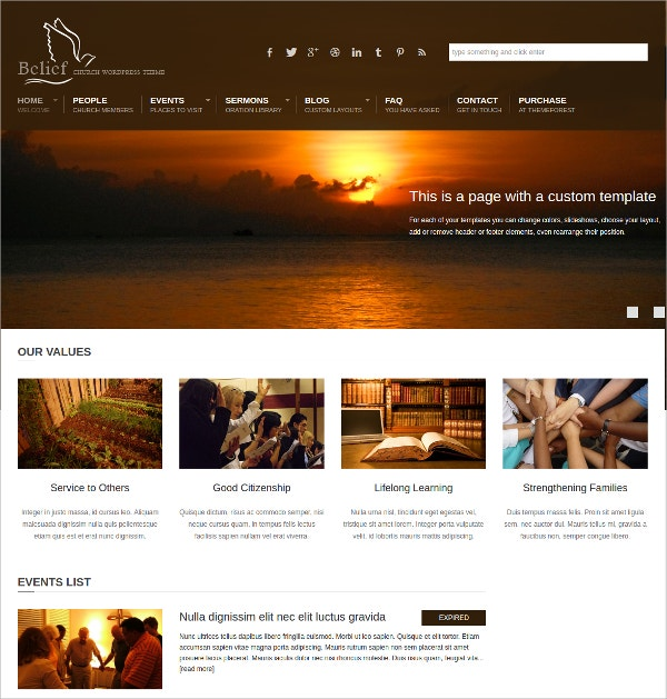 Donation Church WordPress Theme $49