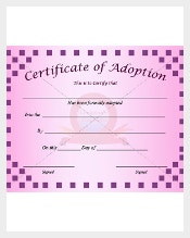 Adoption Certificate Templates. Adoption3. Adoption2. Adoption1
