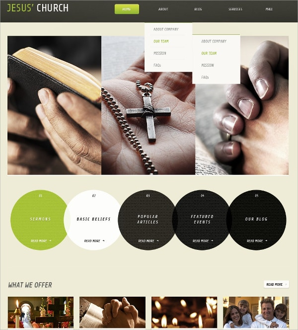 Jesus Christian Church WordPress Theme $67