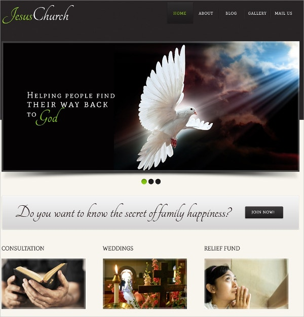 Religious Church & Consulting WordPress Theme $67