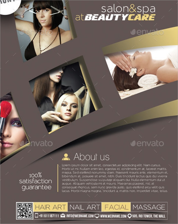 Salon Spa Flyer Template