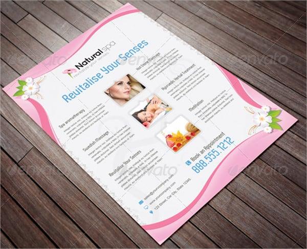 spa marketing flyer