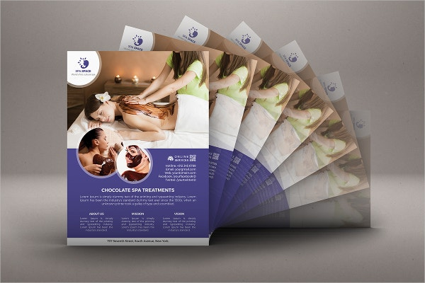 chocolate spa flyer