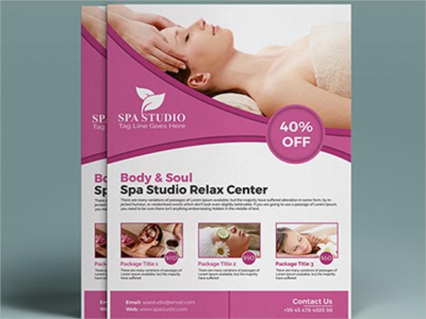 beauty care spa flyer
