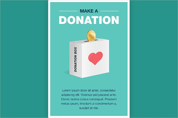 You can create a brochure of A4 size by using this template. This particular template will make appealing posters that can be used for charity and donation collection purposes.