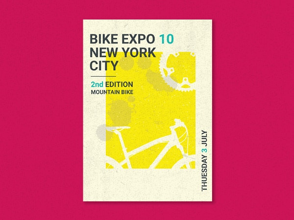 bike expo poster template