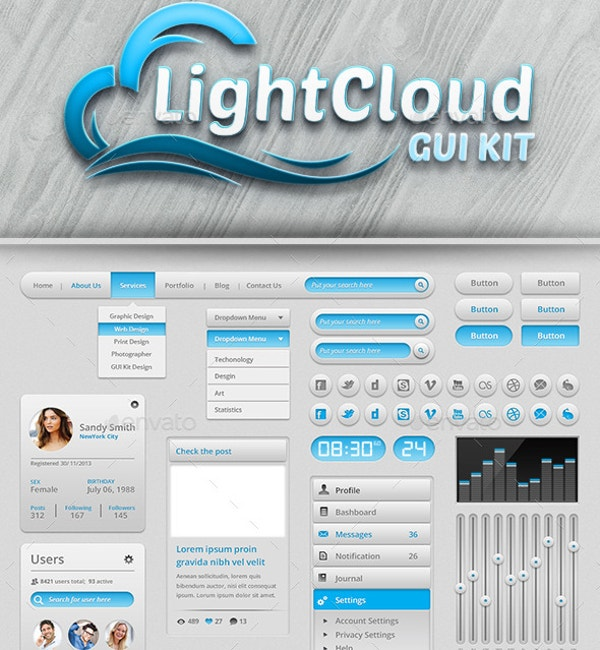 Light Cloud GUI Kit