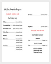 10+ Wedding Program Templates - Free Sample, Example, Format ...