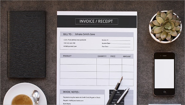 Self Employed Invoice Template 12 Free Word Excel Pdf