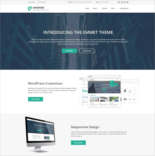 Business Responsive WordPress Theme $55