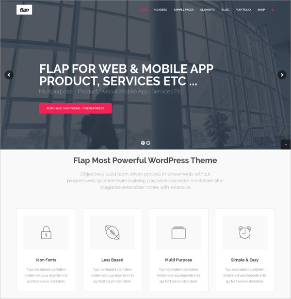 Business Portfolio WordPress Theme $61