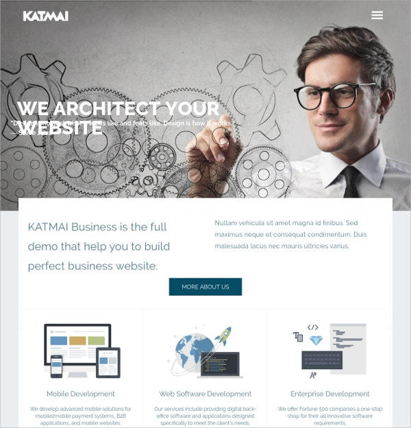 Professional Business WordPress Theme $59