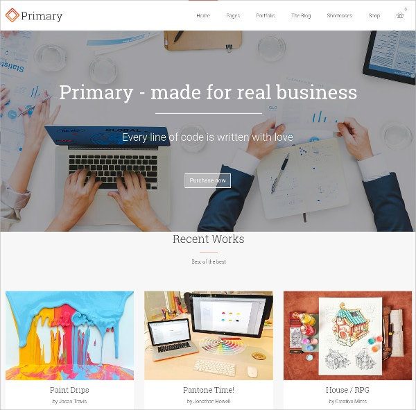 Primary Business WordPress Theme $59