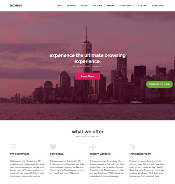 Corporate Business WordPress Theme $39