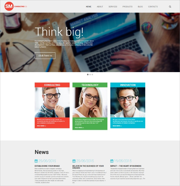 Consulting Business WordPress Theme $75