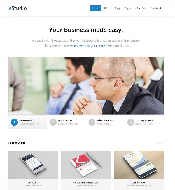 WordPress Business Portfolio Theme $29