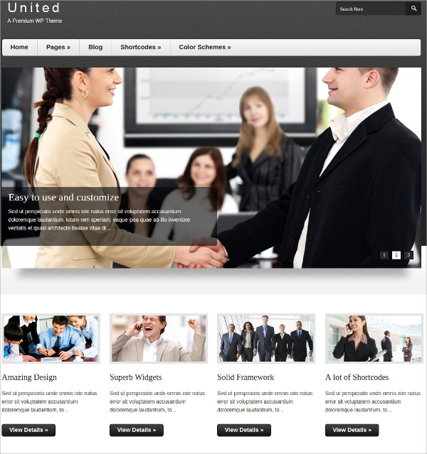 Corporate, Business Portfolio WordPress Website Theme $35