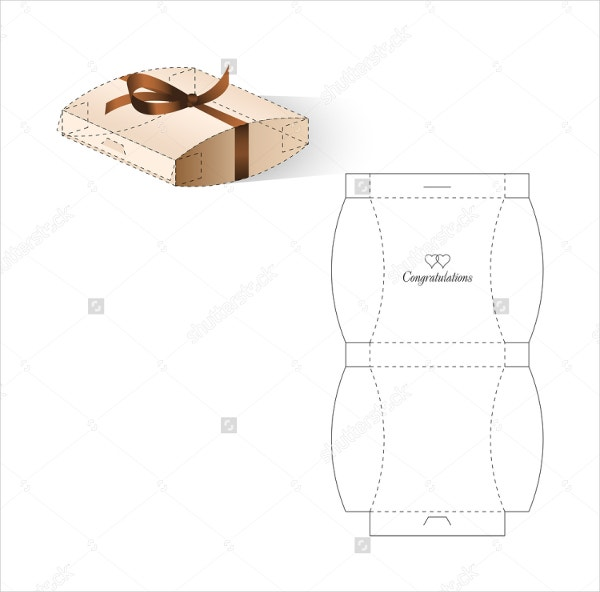 Square Pillow Box Template