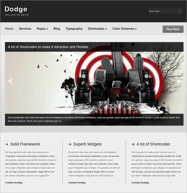 Business Portfolio WordPress Theme $35