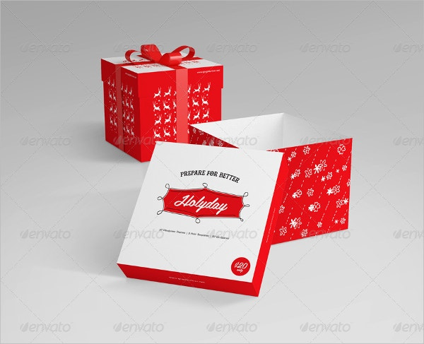 Square Gift Box Template