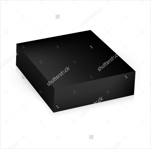 square box packaging template