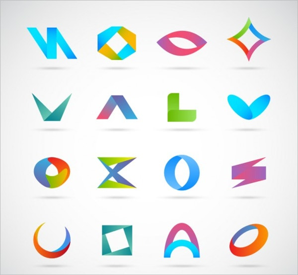 abstract business logo free vector